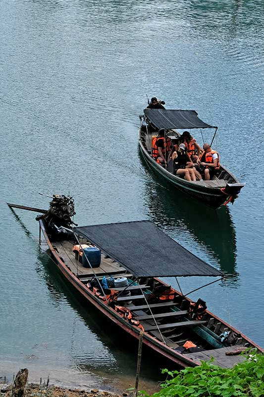 Boats on Cheow Lan lake