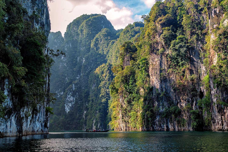 Cheow Lan Lake, also known as Khao Sok Lake